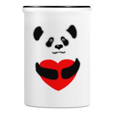 Подставка для ручек и карандашей Панда