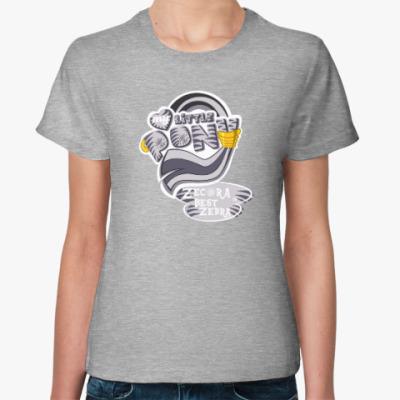 Женская футболка Зекора Лучшая Зебра