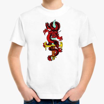 Детская футболка Дракон и меч