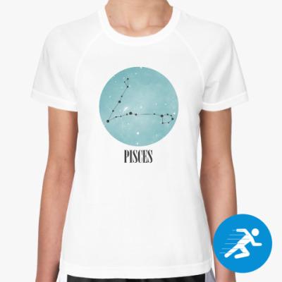 Женская спортивная футболка Знак зодиака Рыбы