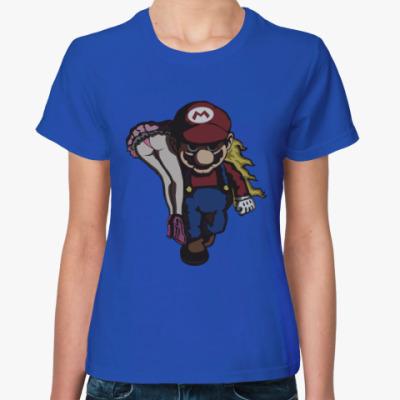 Женская футболка Марио и принцесса