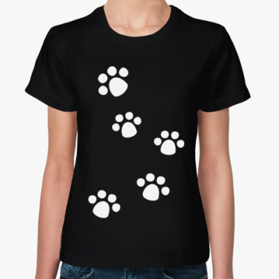 Женская футболка Лапки