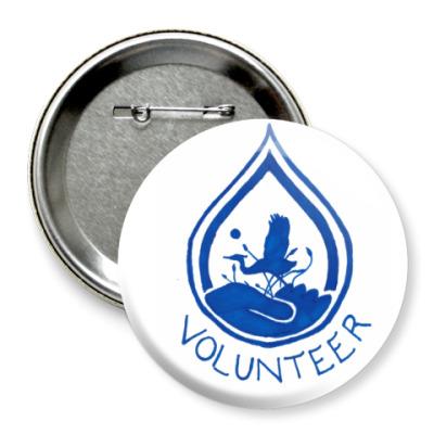 Значок 75мм Volunteer
