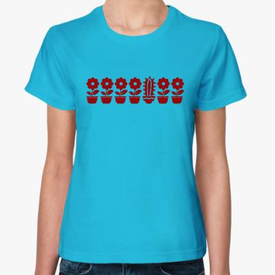 Женская футболка Другой цветок