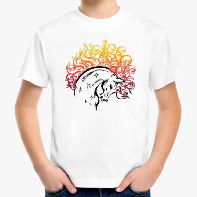 Детская футболка Конь-огонь