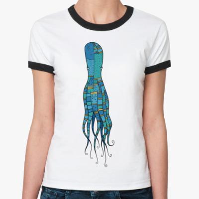 Женская футболка Ringer-T Octopus