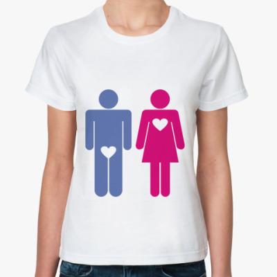 Классическая футболка Женская любовь