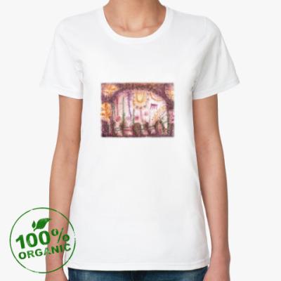 Женская футболка из органик-хлопка Слоник