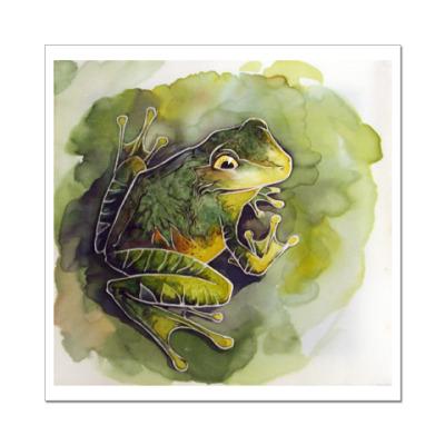 Наклейка (стикер) Лягушка