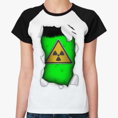 Женская футболка реглан Радиация
