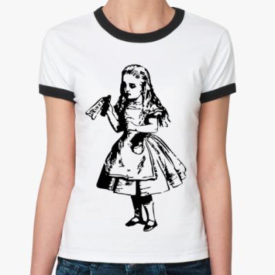 Женская футболка Ringer-T Выпей меня ~  футболка