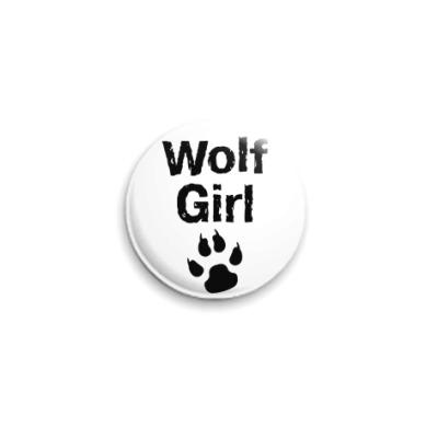 Значок 25мм  Wolf girl