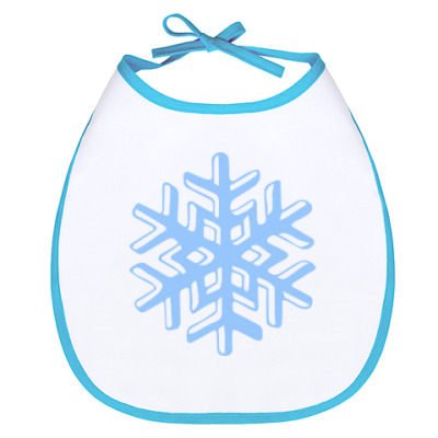 Слюнявчик Объемная снежинка