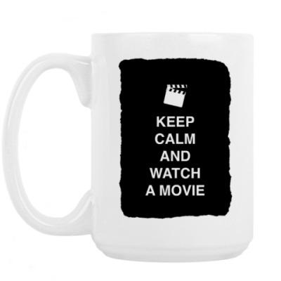 Кружка Keep calm and watch a movie