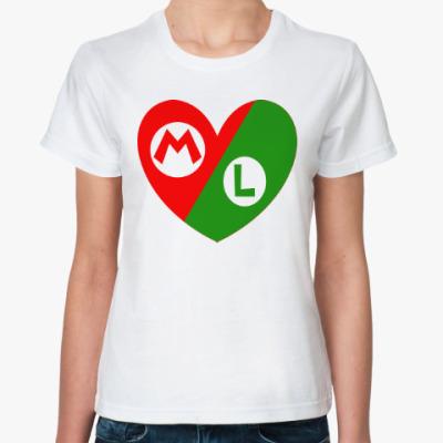 Классическая футболка Марио и Луиджи