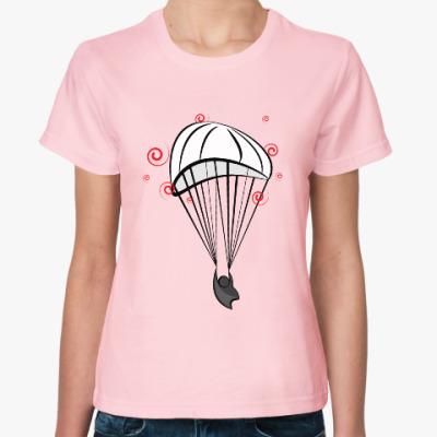 Женская футболка Парашютист!