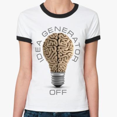 Женская футболка Ringer-T Idea generator (off)