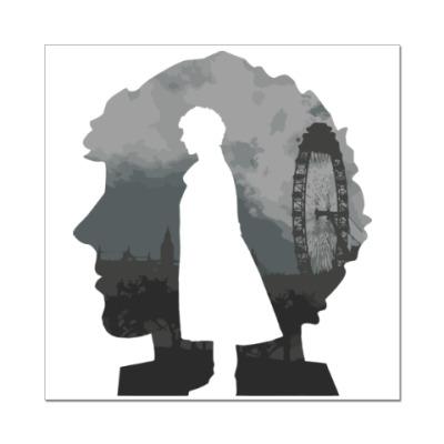 Наклейка (стикер) Sherlock city