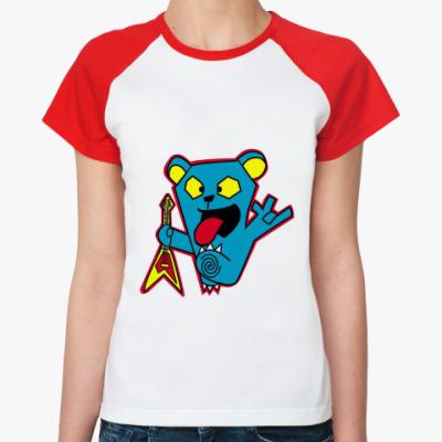 Женская футболка реглан Bear Rock