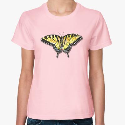 Женская футболка Бабочка
