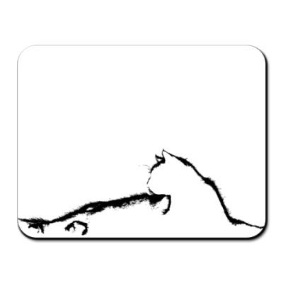 Коврик для мыши Силуэт кошки