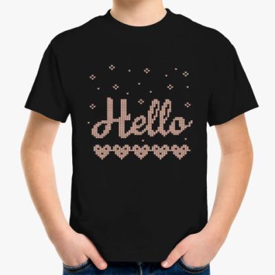 Детская футболка Вязаные узоры