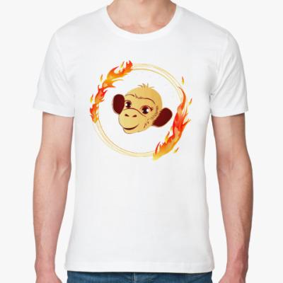 Футболка из органик-хлопка Огненная обезьяна