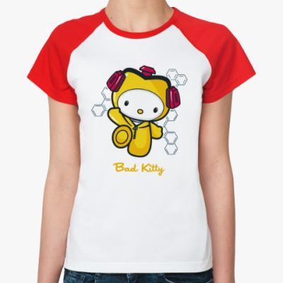 Женская футболка реглан Bad Kitty