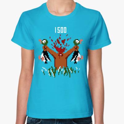 Женская футболка Охота на уток (Duck hunt)
