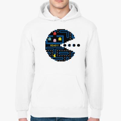 Толстовка худи Pac-Man. PacMan. ПакМан. ПакМен. Pixels. Ready!