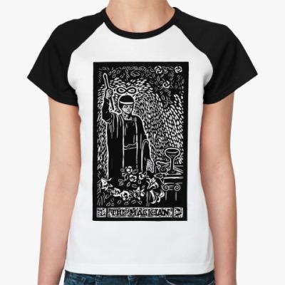 Женская футболка реглан 1 аркан таро маг