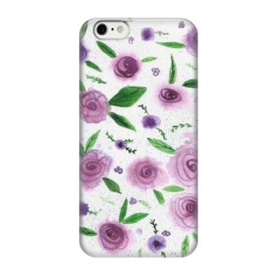 Чехол для iPhone 6/6s цветочный принт 'Розы'