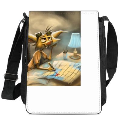 Сумка-планшет Коварный кот