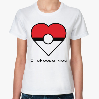 Классическая футболка Покебол (Покемон)