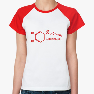 Женская футболка реглан  'Adrenaline'