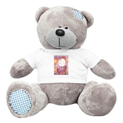 Плюшевый мишка Тедди Птица и девочка