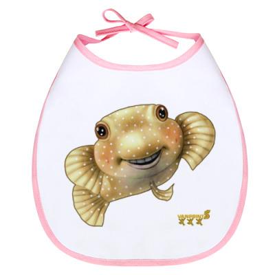 Слюнявчик Рыбка-шар Бусик