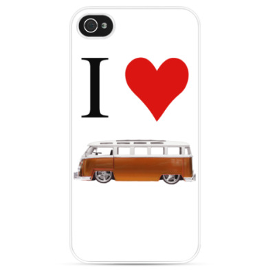 Чехол для iPhone I Love Bus