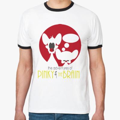 Футболка Ringer-T Приключения Пинки и Брэйна