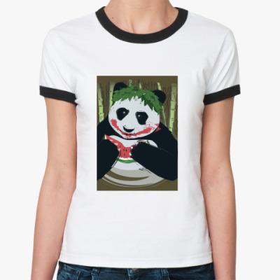 Женская футболка Ringer-T Панда Joker