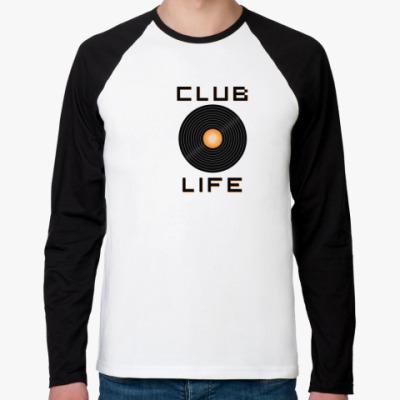 Футболка реглан с длинным рукавом club life
