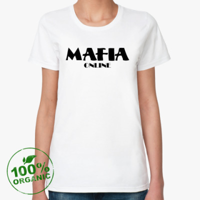 Женская футболка из органик-хлопка Футболка орг. (жен.) Logo+QR