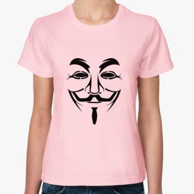 Женская футболка Анонимус