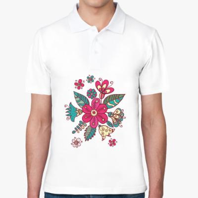 Рубашка поло Цветок