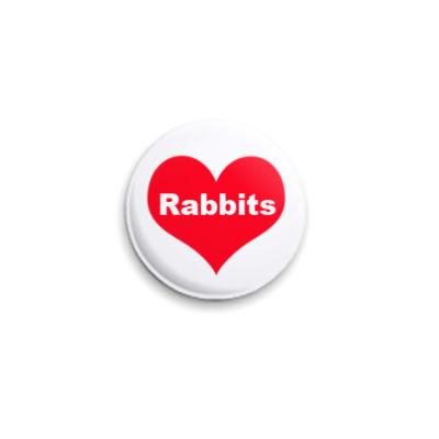 Значок 25мм Rabbits