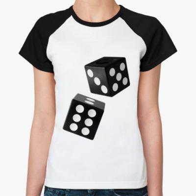 Женская футболка реглан Кубики