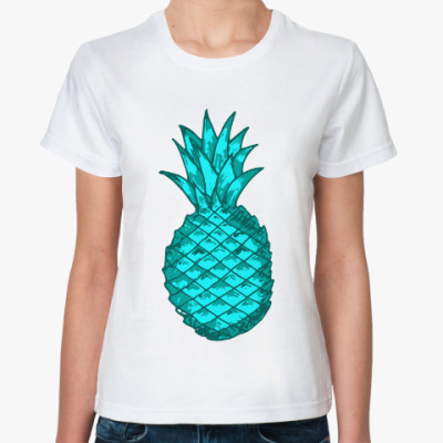 Классическая футболка Зеленый ананас
