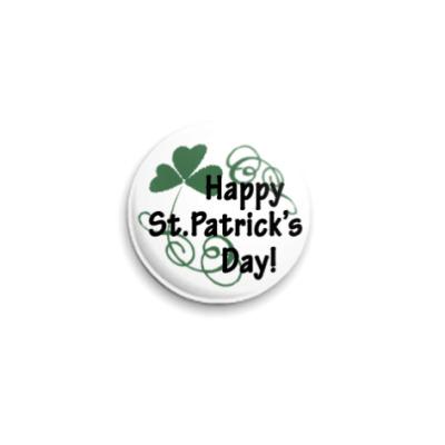 Значок 25мм St.Patrick