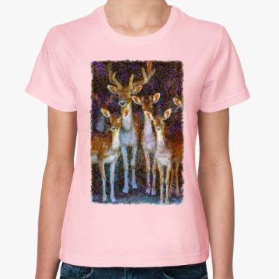 Женская футболка олени