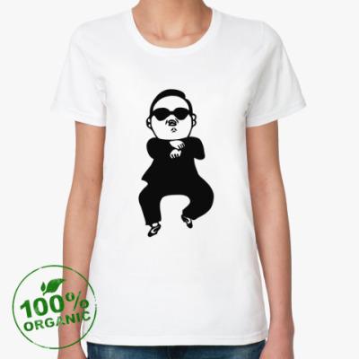 Женская футболка из органик-хлопка В стиле гангнам (gangnam)